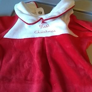 Janie and Jack newborn velvet Santa suit